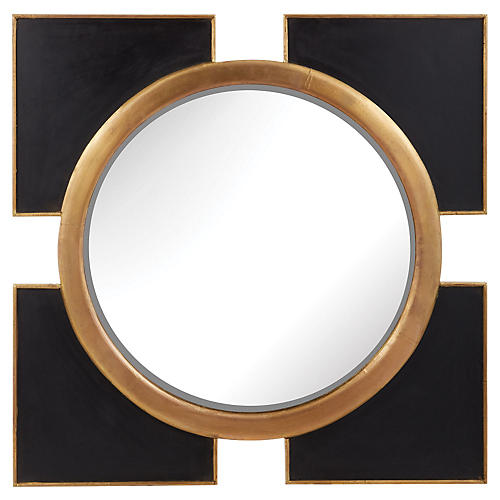 Megan Wall Mirror, Black