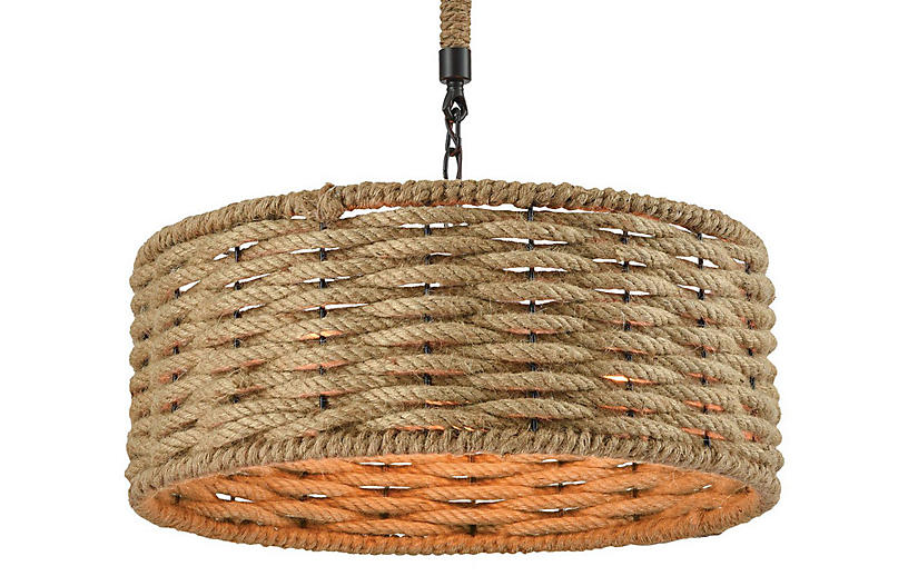 Weaverton 3-Light Chandelier, Natural