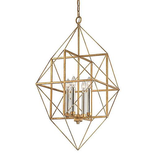 Connexions 4-Light Pendant, Gold