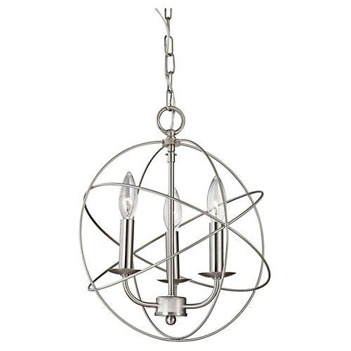 Williamsport 3-Light Pendant, Nickel