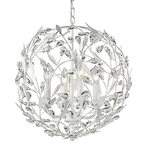 Circeo 4-Light Pendant, Antiqued White