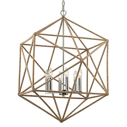 Exitor 6-Light Pendant, Natural