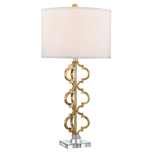 Castile Table Lamp, Gold Leaf