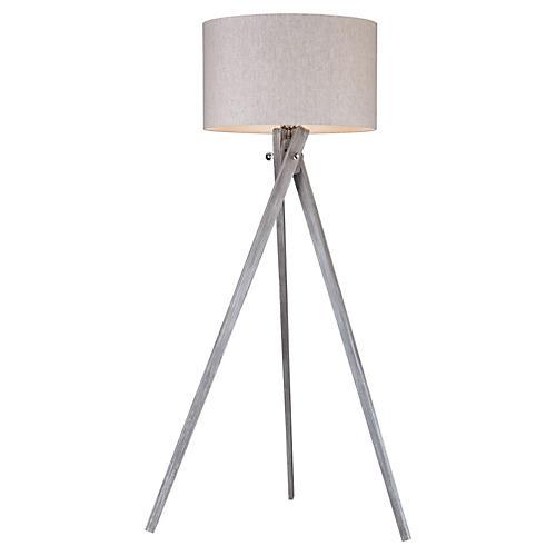 Whistler Floor Lamp, Black Ash