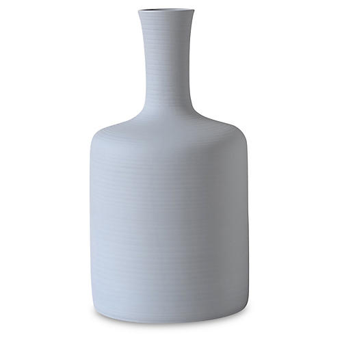"16"" Tulip Porcelain Vase, Gray"