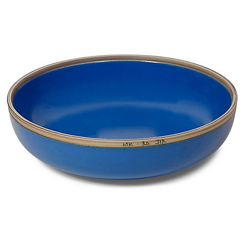 Hermit Bowl, Blue/Natural