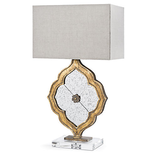 Ornament Table Lamp, Gold