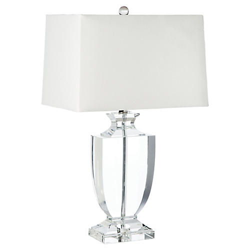 Phat Urn Table Lamp, Crystal