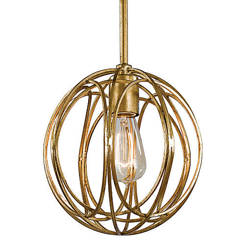 Gold Ofelia Chandelier, Mini
