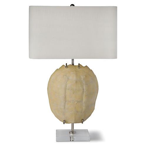 Exhibit Turtle Shell Table Lamp, Bleach