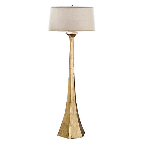 Tapered Floor Lamp, Gold