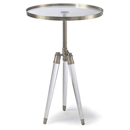 Brigitte Round Side Table, Brass