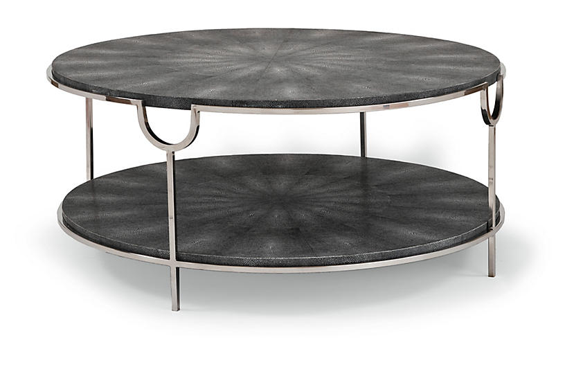Vogue round coffee table charcoal regina andrew design for Coffee tables regina