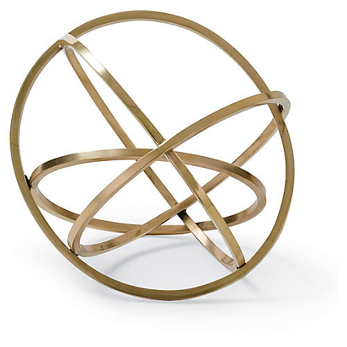 "10"" Ellipse Table Top Accessory, Brass"