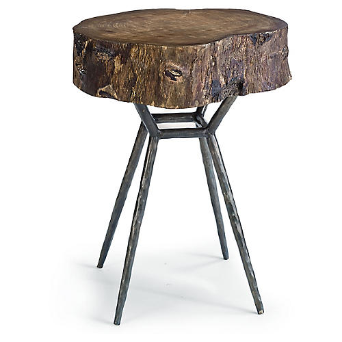 Cosmo Wood Side Table, Ebony