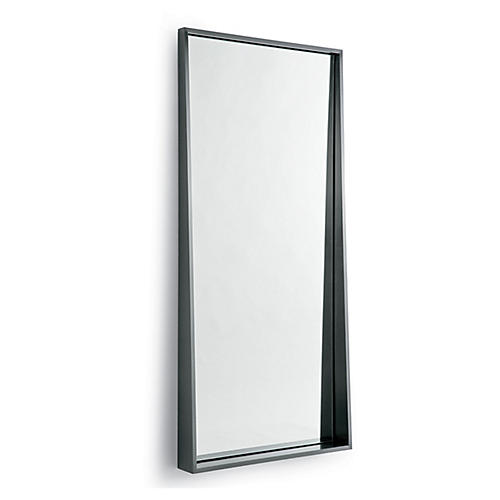 Gunner Floor Mirror, Black