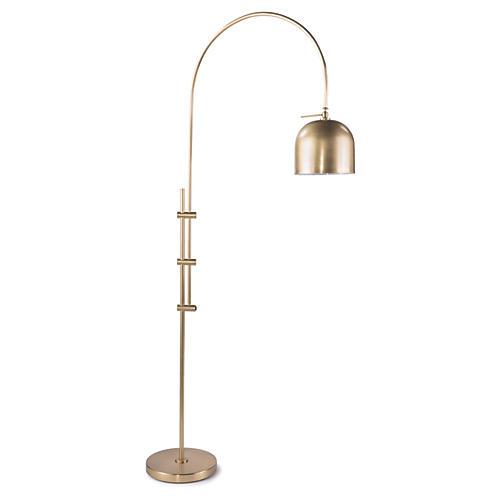 Arc Floor Lamp, Brass