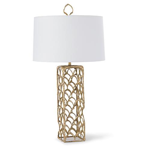 Cabana Table Lamp, Natural Brass