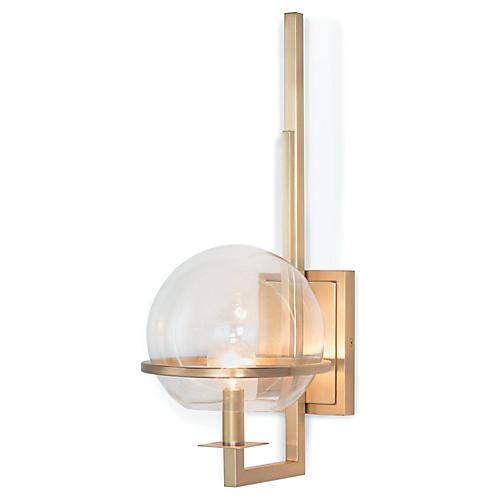 Saturn Sconce, Brass