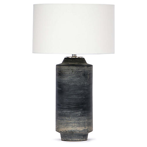 Dayton Ceramic Table Lamp, Ebony