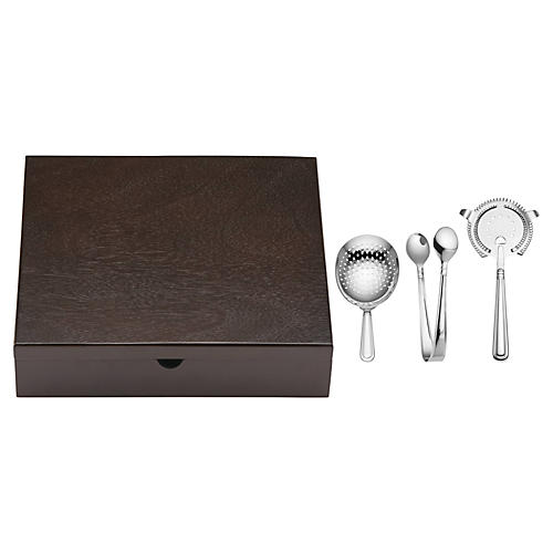 August Bar Tool Set, Silver