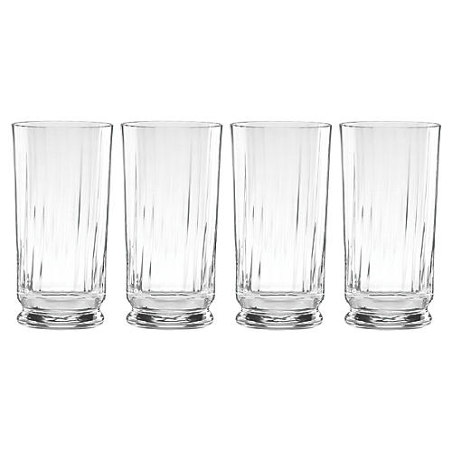 S/4 Austin Highball Glasses, Clear
