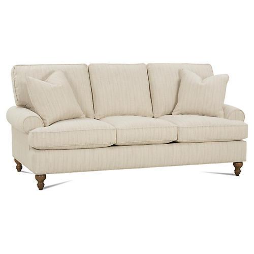 "Cindy 84"" Sofa, Natural"