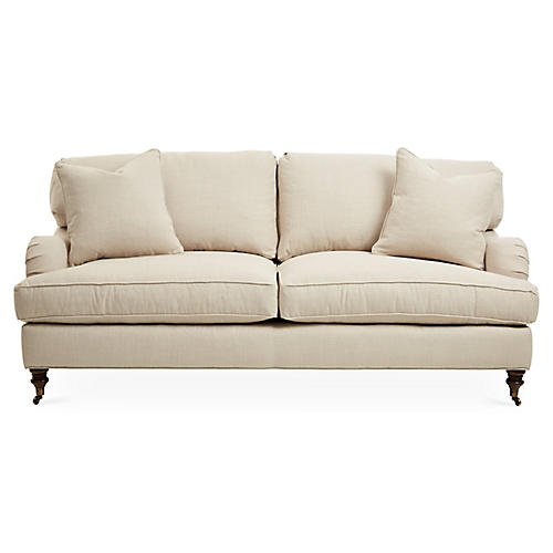 "Brooke 78"" Sleeper Sofa, Natural"