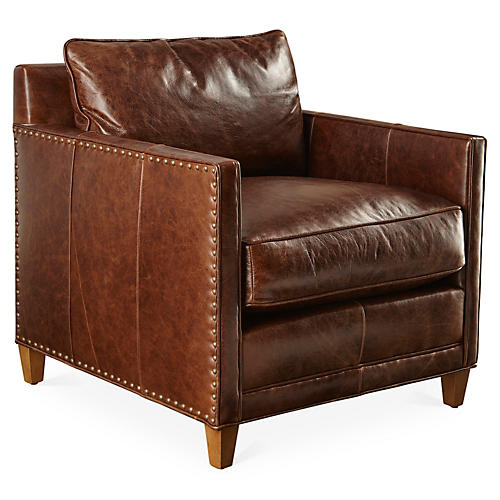 Springfield Chair, Tuscan Mink Leather