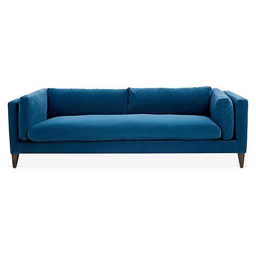 Hyde Tuxedo Sofa, Navy Crypton