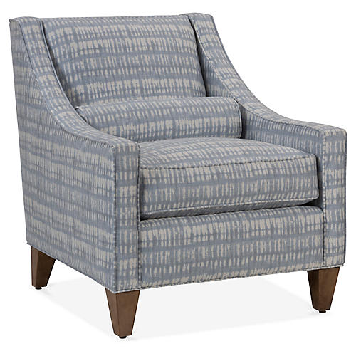 Christophe Accent Chair, Ice Blue