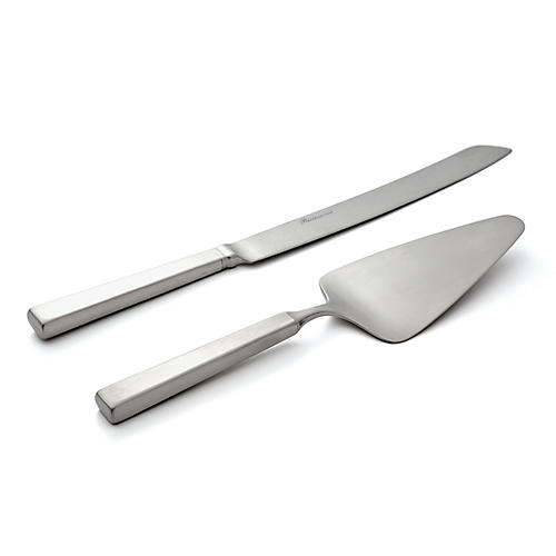2-Pc Rapallo Satin Cake Knife & Server