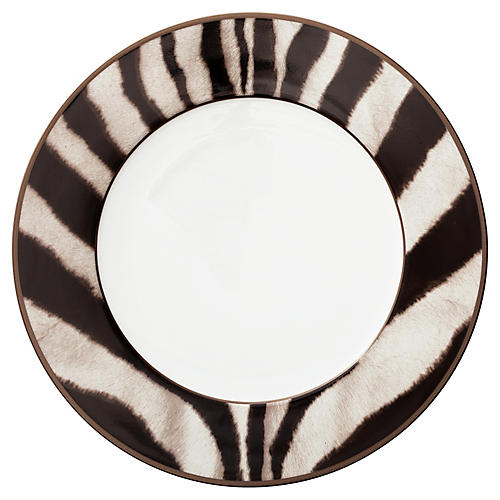 Kendall Dinner Plate, Brown/Black