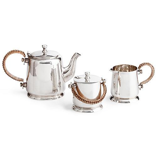 Asst. of 3 Darian Tea Set, Silver