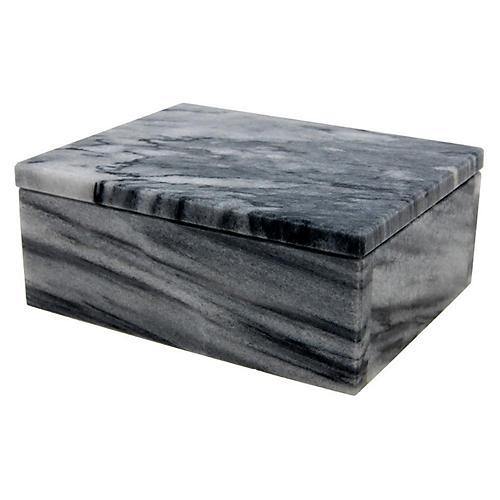 "5"" Carson Keepsake Box, Cloud Gray"