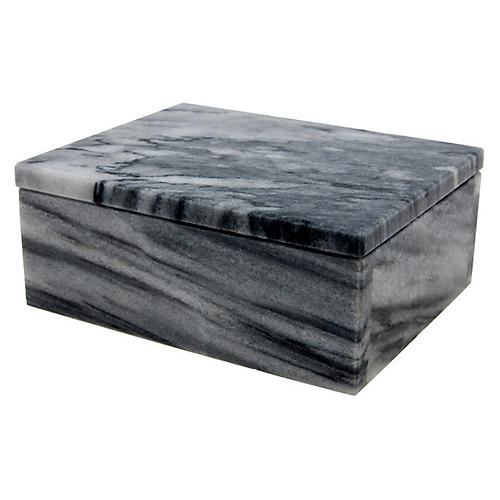 "5"" Carson Keepsake Box, Cloud Gray"
