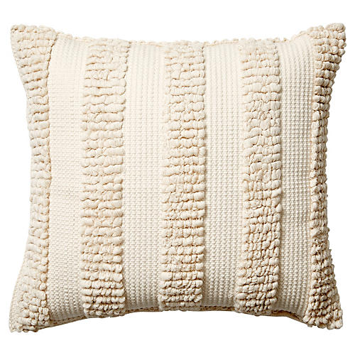 Monterey VII 18x18 Pillow, Cream
