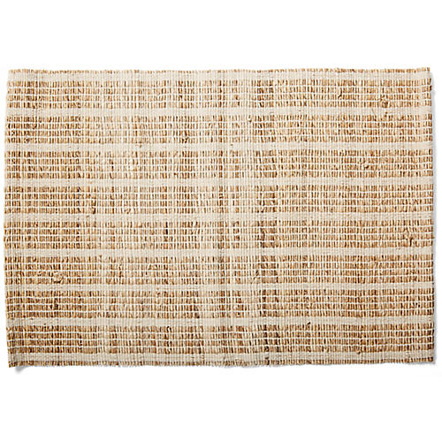 S/4 Cayes Place Mats, Natural/White