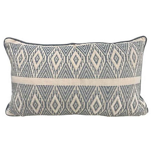 Monterey VI 12x18 Pillow, Blue/Cream
