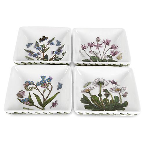 S/4 Botanic Garden Square Mini Dishes