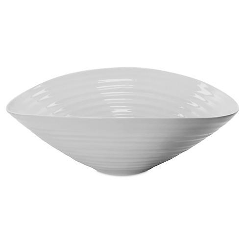 Porcelain Salad Bowl, Gray