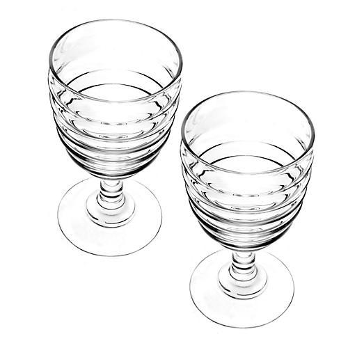 S/2 Glass White-Wine Glasses