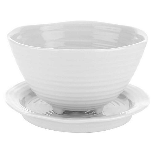 Sophie Conran Beryl Bowl w/Saucer, White