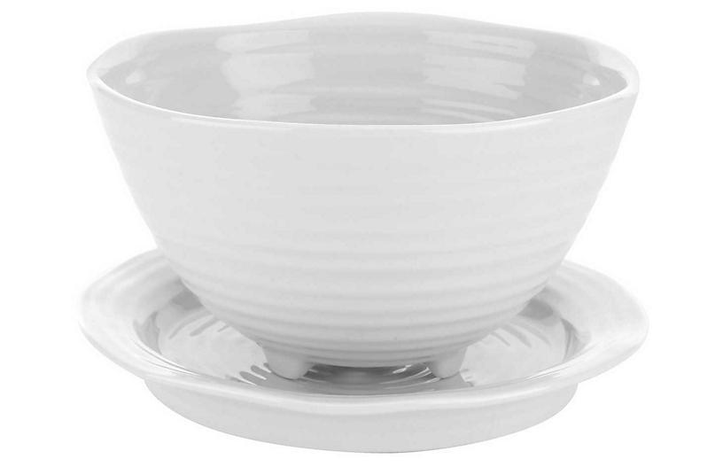 Sophie Conran Berry Bowl w/ Saucer, White