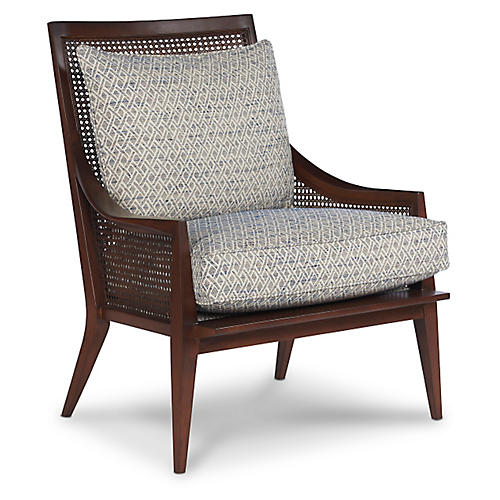 Clearwater Accent Chair, Indigo/Multi