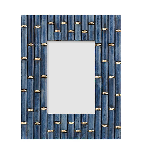 4x6 Clifford Links Picture Frame, Indigo/Gold