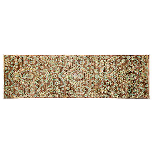 3'x10' Eclectic Runner, Brown