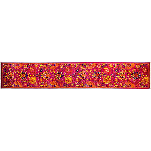 "2'7""x15'9"" Eclectic Runner, Pink/Yellow"