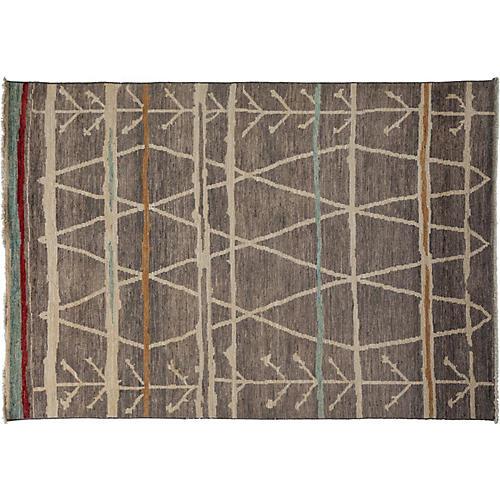 """6'3""""x8'10"""" Moroccan Rug, Gray"""