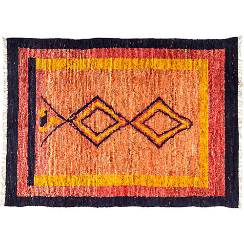 "6'4""x8'8"" Tullu Rug, Orange/Black"
